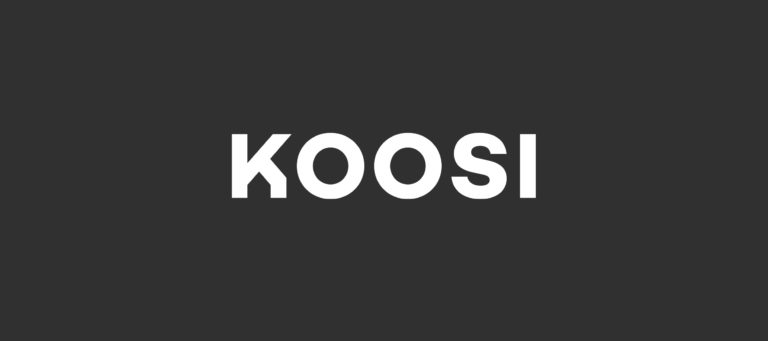 Koosi wordmark logo.