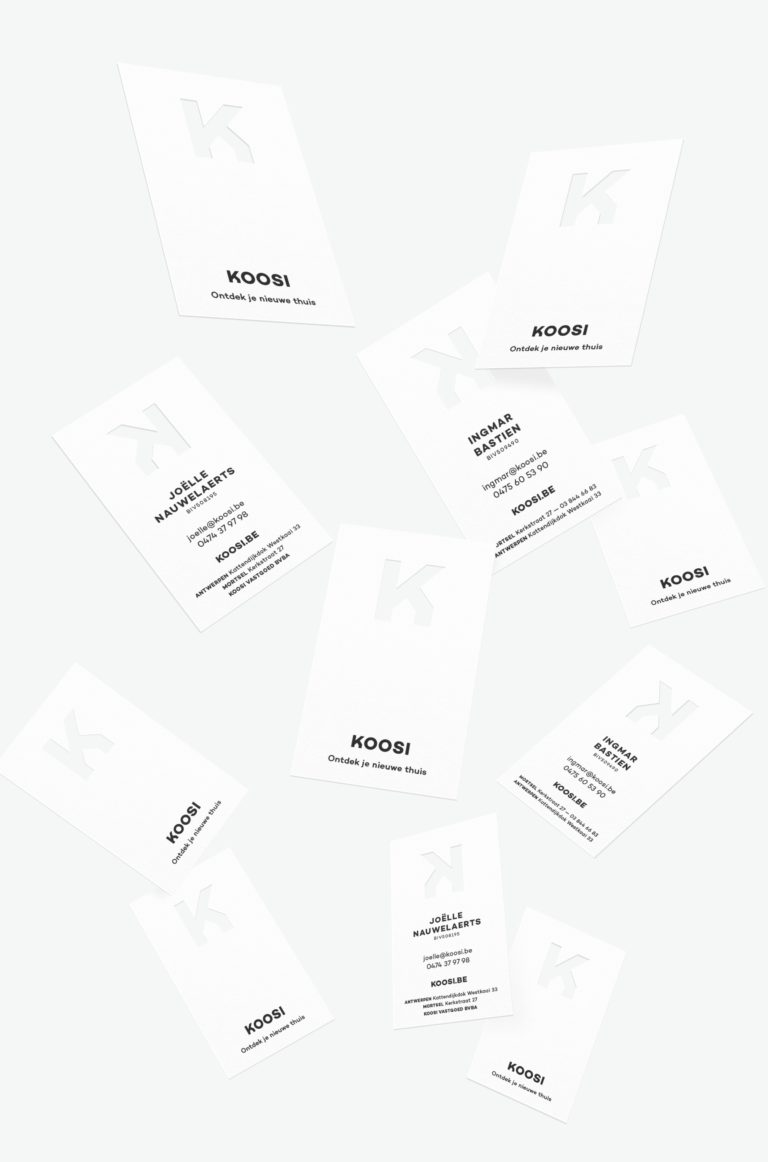 Stationary design, Koosi business cards.