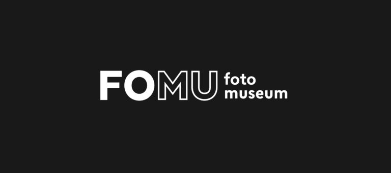 FOMU's new logo in black and white.