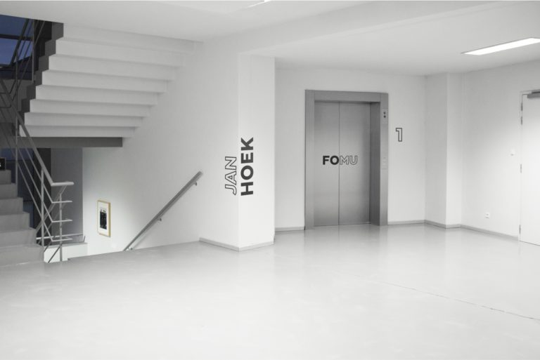 Wall signage for Jan Hoek's exposition.