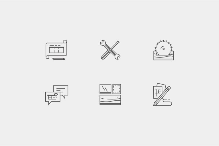 Icon set designed for Interpoint's website.