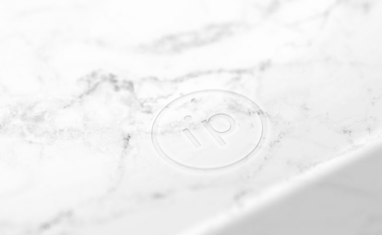 Interpoint brandmark logo marble mock-up.