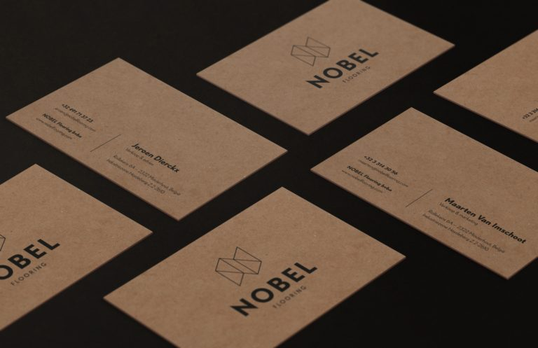 Nobel stationary design business cards.