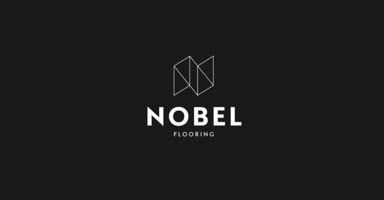 Nobel brandmark logo and logotype black and white.