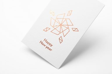 Nobel stationary design happy new year card.