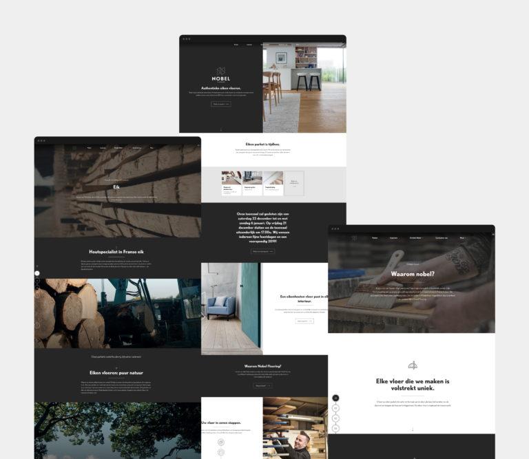 Nobel Flooring, website, SEO, Wegontwerp, Webdesign, UI, UX, Branding