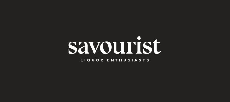 Savourist black and white word mark logo with 'Liquor Enthusiasts' pay-off.