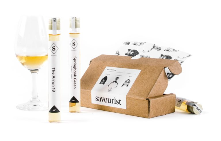Savourist branded packaging and product studio photography.