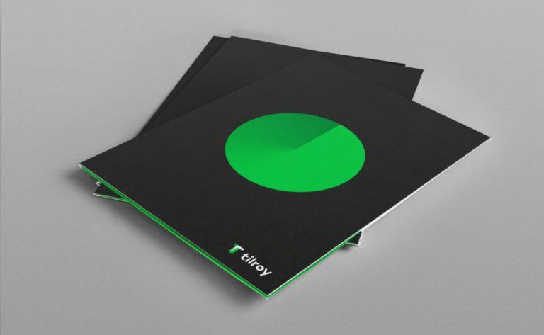 Tilroy stationary design folder.
