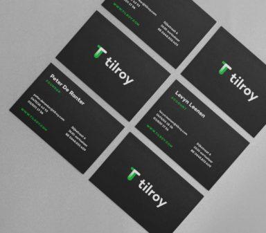 Tilroy stationary design business cards.