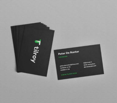 Tilroy stationary design business cards 2.