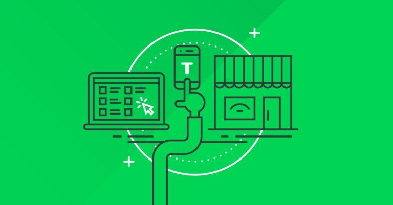Tilroy green visual identity omni-channel illustration.