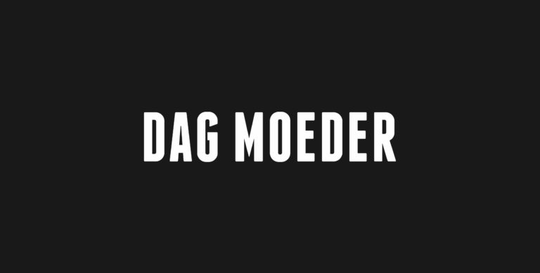 Logo and typography for Dag Moeder.