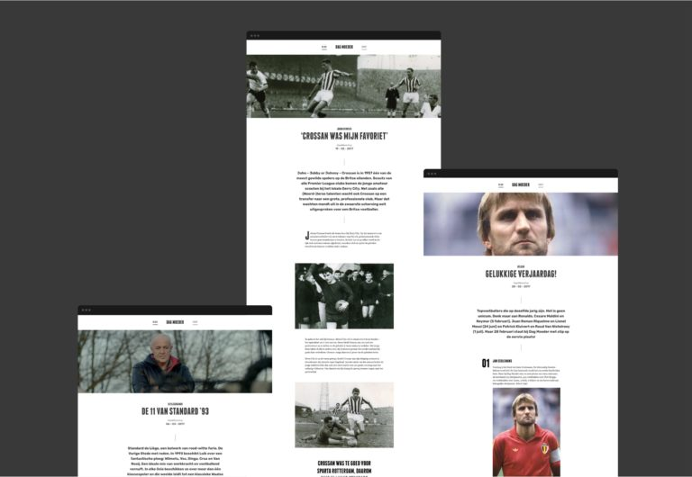 Overview of the main pages of Dag Moeder's responsive website.