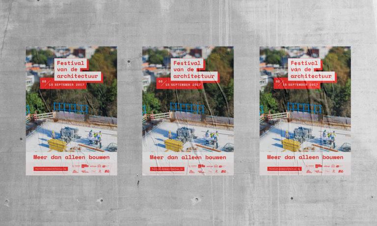 festival van de architectuur - vlaams architectuurinstituut - branding huisstijl logo website