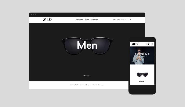 Meo website stationary branding webshop fashion