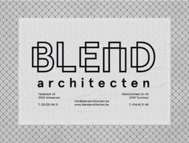 blend architecten huisstijl branding website logo