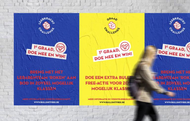 Gezond leven, Bullshit Free Generetion, Branding, grafisch ontwerp antwerpen, campagne, website, slogan, poster