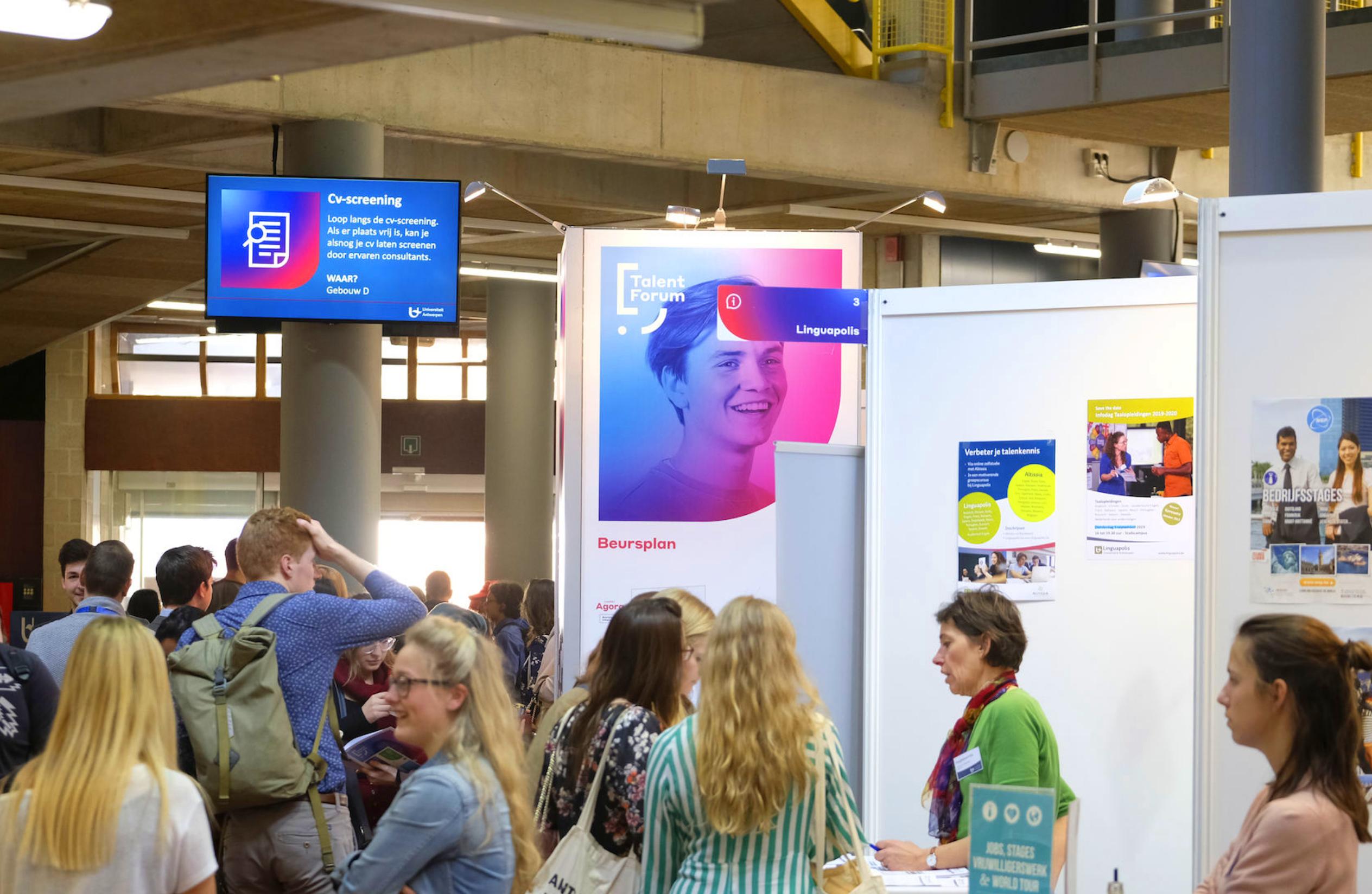 Talent Forum, Ua Antwerpen, universiteit antwerpen, branding, logo, identiteit, event, signalisatie, poster, branding