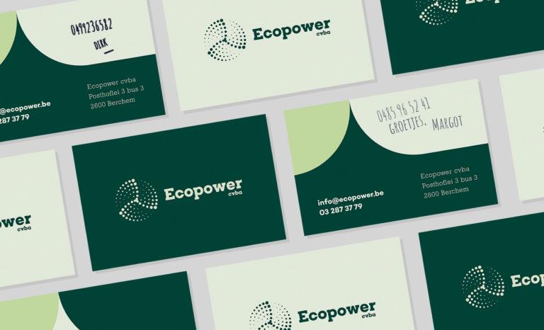 Ecopower, branding, rebranding, grafisch ontwerp, logo, identiteit, wind energie, energie leverancier, website