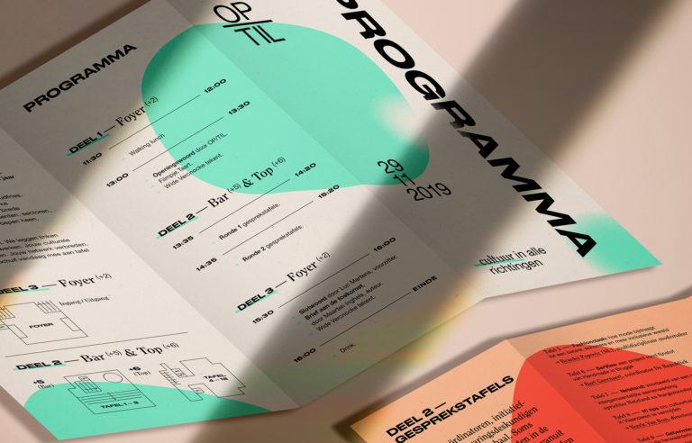 OP/TIL: Huisstijl, Branding, Website, Drukwerk