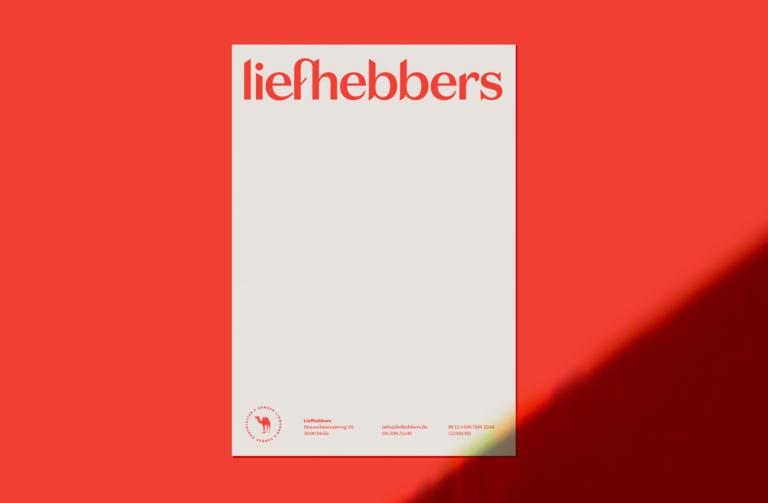 liefhebbers, rebranding, branding, huisstijl, grafisch bureau antwerpen, creative agency