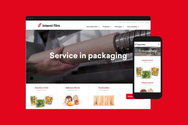 Interni Film's user-friendly responsive website works on computers and smartphones. Informaton architecture structures a large amount of products and services.