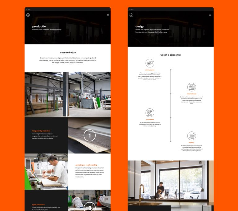 Overview of the main pages of Interpoint's responsive corporate website.