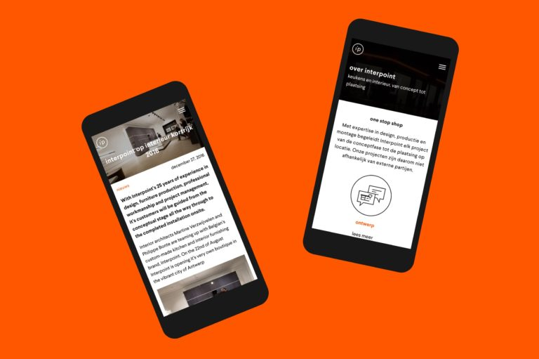Interpoint's responsive corporate website works perfectly on mobile phones.