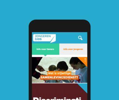 website voor jongeren, responsive website, mobiele website, duidelijke informatiearchitectuur, duidelijke website, website laten maken Antwerpen, huisstijl, online branding,