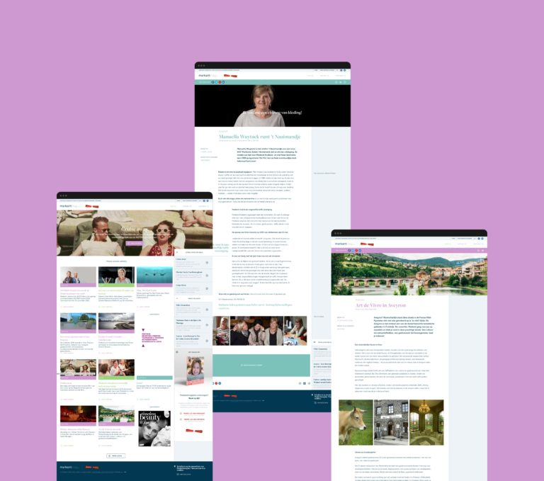 Overview of Markantmag's responsive website.