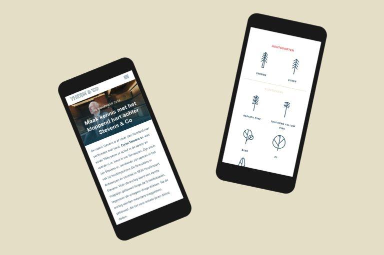 Therm en Co's responsive website, seen on smartphones.