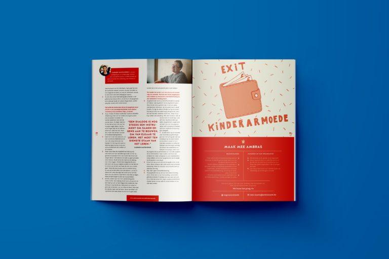 Magazine design, magazine lay-out, illustration , typography, graphic design Antwerpen.