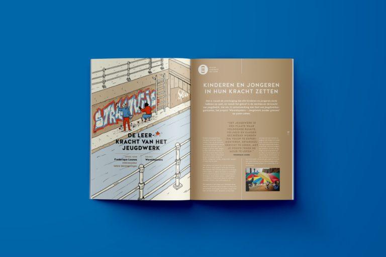 Magazine design, magazine lay-out, illustration, typography, graphic design Antwerpen.