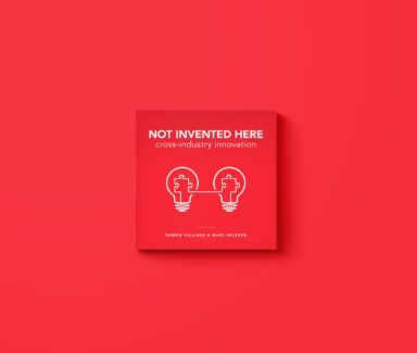 Cover illustration and cover design for Not Invented Here. Data visualisation and book lay-out.