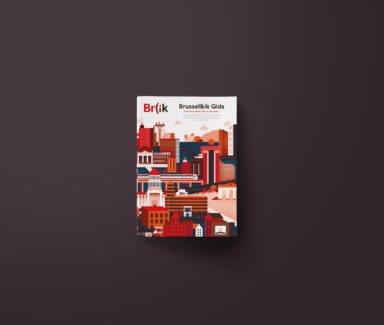 Br)ik City Guide city guide design, graphic design Antwerpen, cover design, cover illustration, print design, lay-out.