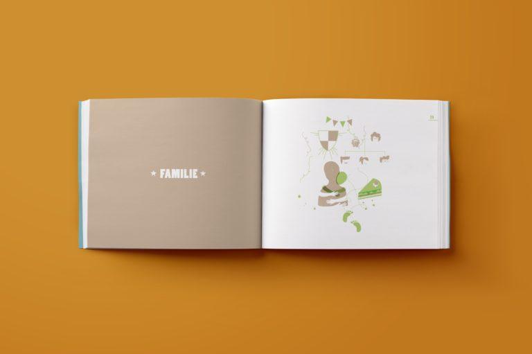 Children's book design, illustration, book design, book lay-out.