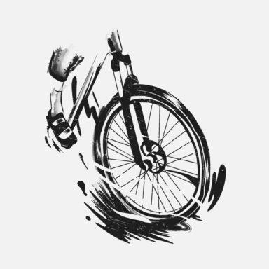 Illustratie, illustrator, Antwerpen, Adventure, Mountain bike